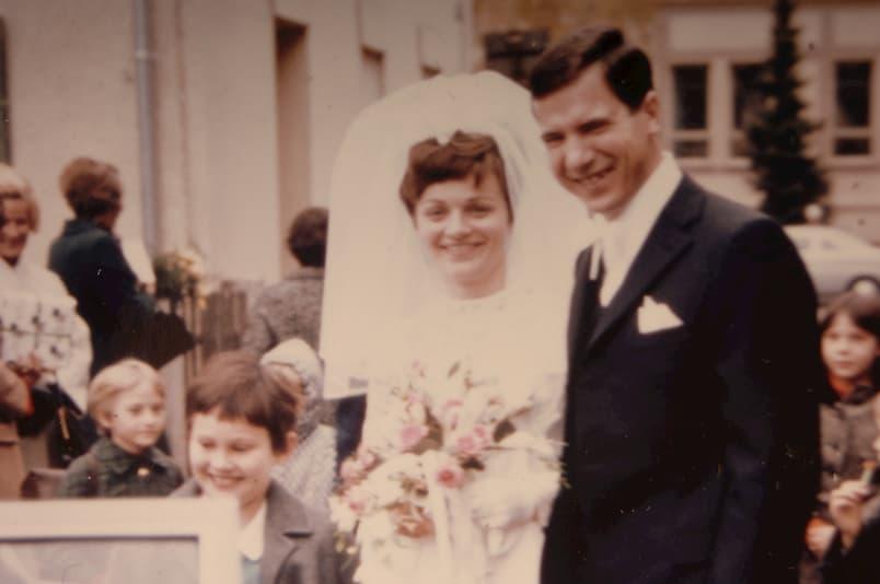 Franz und Elfriede Settele heiraten